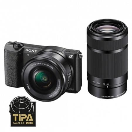 Sony Alpha A5100 negru + SEL16-50mm F3.5-5.6 + SEL55-210mm Wi-Fi/NFC RS125014878