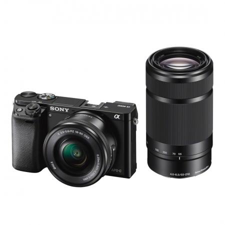 Sony Alpha A6000 negru + SEL16-50mm F3.5-5.6 + SEL55-210mm Wi-Fi/NFC RS125011360-4