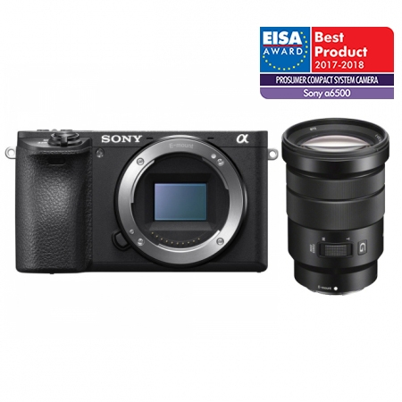 Sony Alpha A6500 kit SELP 18-105mm F/4 G, negru