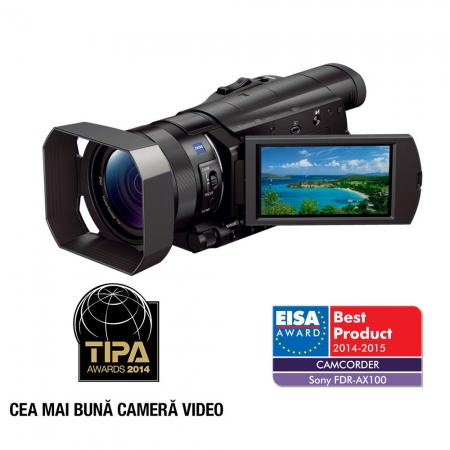 Sony Camera Video Profesionala FDR-AX100 cu 4K RS125010369-3