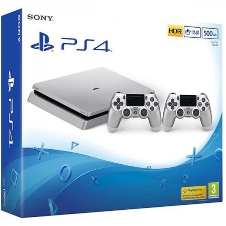 Sony Consola Playstation 4 SLIM, 500 GB Editie Limitata Silver + controller DualShock 4 V2 Silver