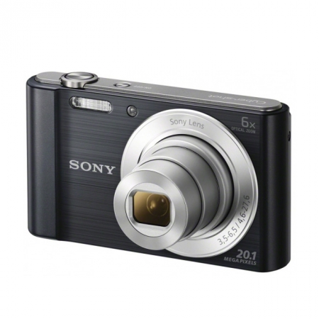 Sony DSC-W810 negru 20,1 Mpx, zoom optic 6x, HD 720p