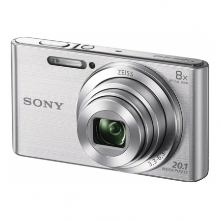 Sony DSC-W830 Argintiu 20,1 MP, zoom optic 8x,SteadyShot optic & obiectiv Zeiss® - RS125010193-1