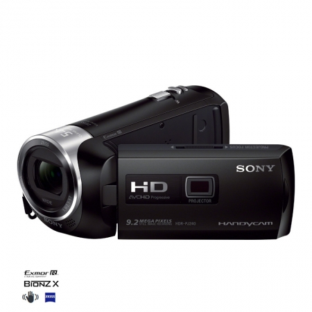 Sony HDR-PJ240 neagra - camera video Full HD cu proiector