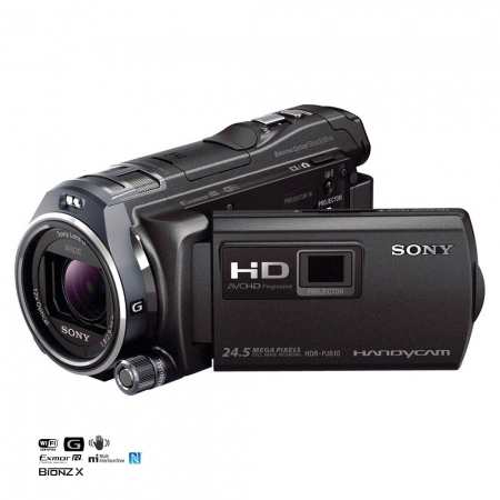 Sony HDR-PJ810 - camera video Full HD, proiector, Wi-Fi, NFC