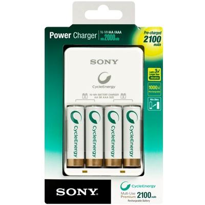 Sony Incarcator + 4 acumulatori 2100mah
