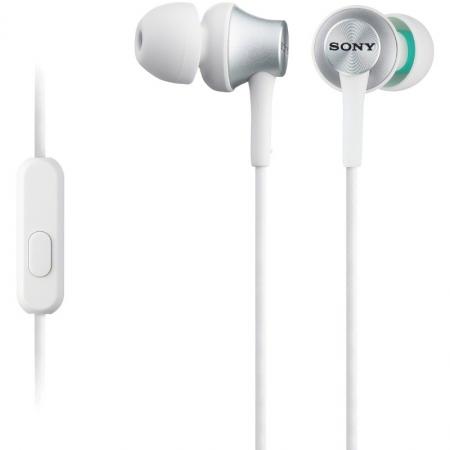 Sony MDR-EX450APH - Casti intraauriculare cu telecomanda si microfon - alb