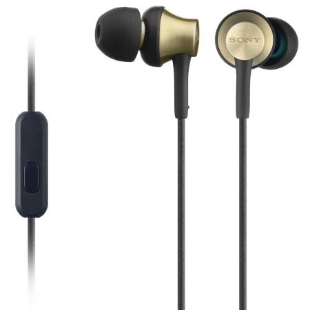 Sony MDR-EX650AP - Casti intraauriculare cu telecomanda si microfon - negru-auriu