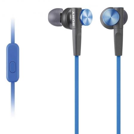 Sony MDR-XB50AP - Casti audio in-ear,  Control Telefon, Extra Bass - albastru