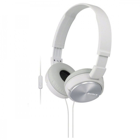 Sony MDR-ZX310AP - Casti supraauriculare cu telecomanda si microfon - alb