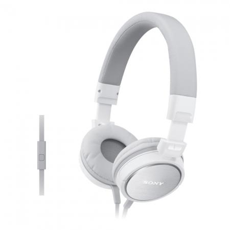 Sony MDR-ZX610AP - Casti supraauriculare cu telecomanda si microfon - alb