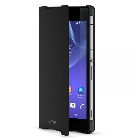 Sony SCR10 - Husa piele eco tip Book Stand Xperia Z2 - Negru