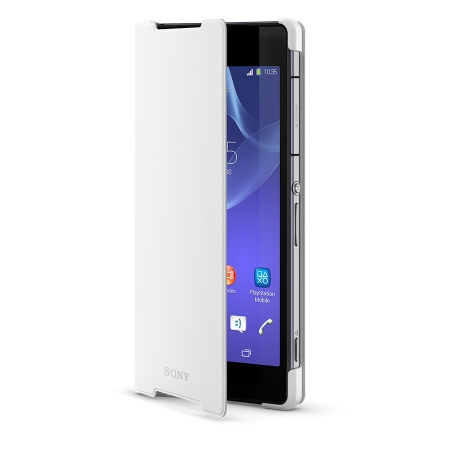 Sony SCR10 - Husa tip Book Stand Xperia Z2 - Alb