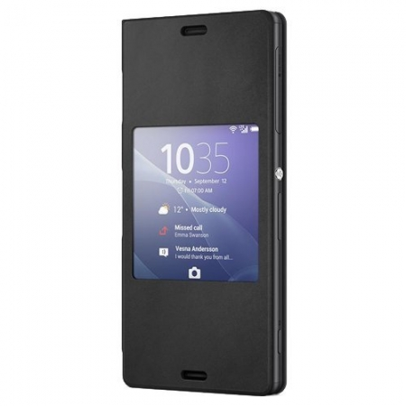 Sony SCR24 - Husa piele eco tip Style Book Xperia Z3 - Negru