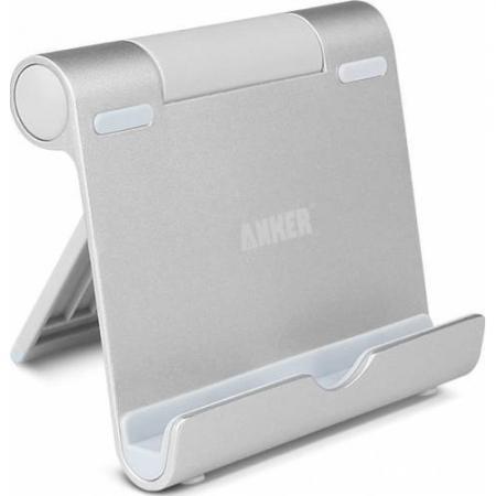 Stand birou Anker argintiu multi-angle pentru telefon si tableta