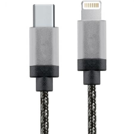 Star Cablu Date USB Tip C la Lightning, 1M, Aluminiu, Alb-Negru