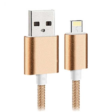 Star Cablu Date USB la Lightning, 2M, Auriu
