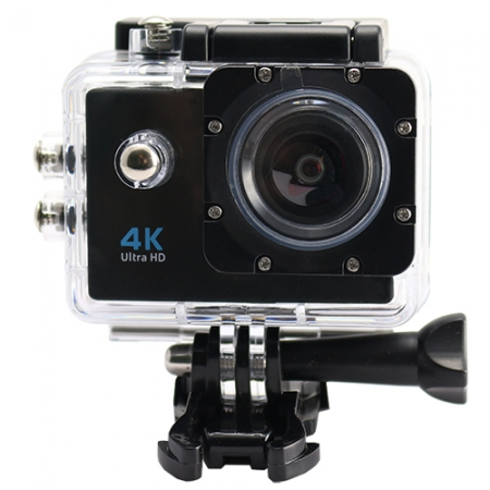 Star - Camera Video de Actiune, 4K/30fps, Wi-Fi, Ultra HD, Rezistenta La Apa, Negru