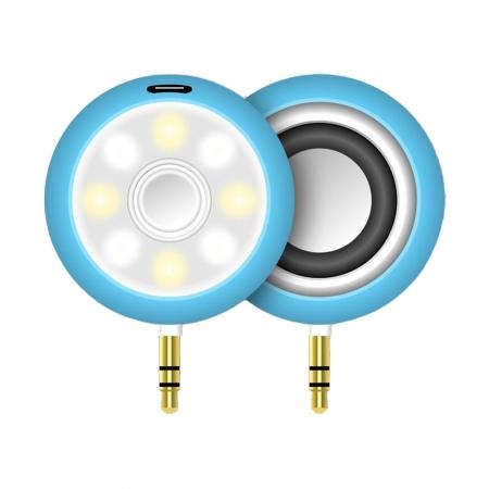 Star - Mini boxa cu LED-uri pentru selfie, Albastru