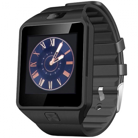 Star Rush - Smartwatch cu SIM Gri, Curea Silicon Neagra
