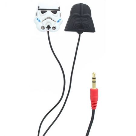 Star Wars Casti cu Fir In Ear Darth Vader/Sormtrooper pentru iPhone