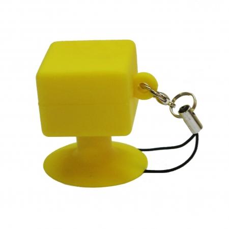 Suport telefon universal cu ventuza - galben