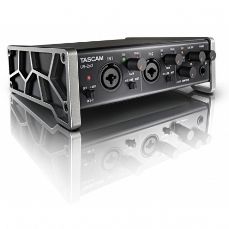 Tascam US-2x2 - Interfata audio USB cu 2 intrari XLR/TRS, Phantom Power