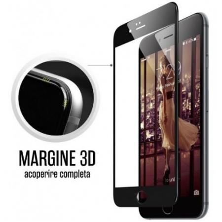 Tempered Glass - Folie pentru Iphone 7, Full 3D - negru