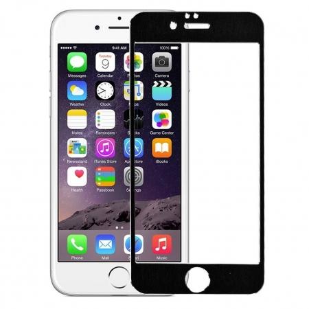 Tempered Glass - Folie protectie sticla securizata iPhone 6 - Black aluminium