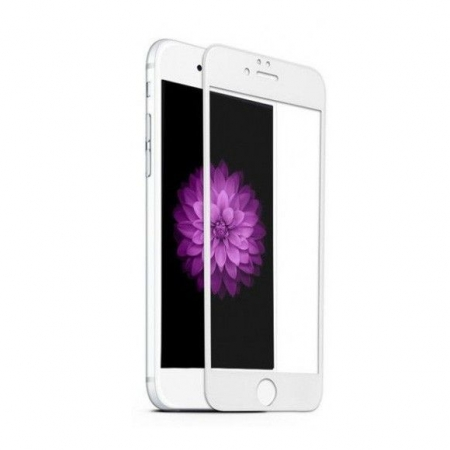 Tempered Glass Folie protectie sticla securizata iPhone 6 full 3D, alb