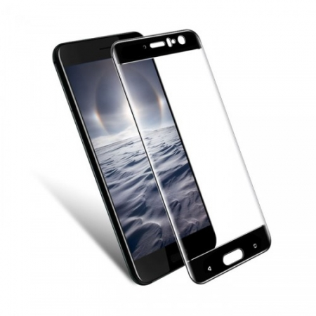 Tempered Glass Folie protectie sticla securizata pentru HTC U11, 3D Negru