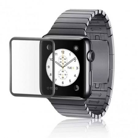 Tempered Glass Folie sticla securizata Apple Watch 38 mm - Negru