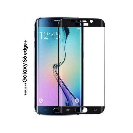 Tempered Glass - folie sticla pentru Samsung Galaxy S6 Edge Plus negru