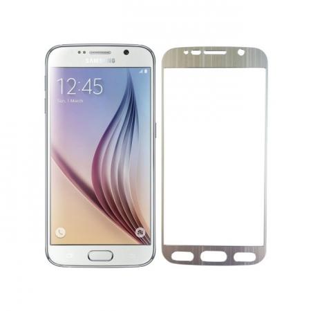 Tempered Glass - folie sticla pentru Samsung Galaxy S6 - aluminiu argintiu