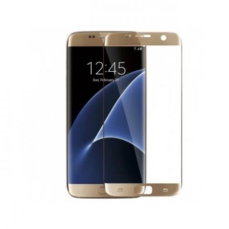 Tempered Glass - folie sticla pentru Samusung Galaxy S7 - auriu