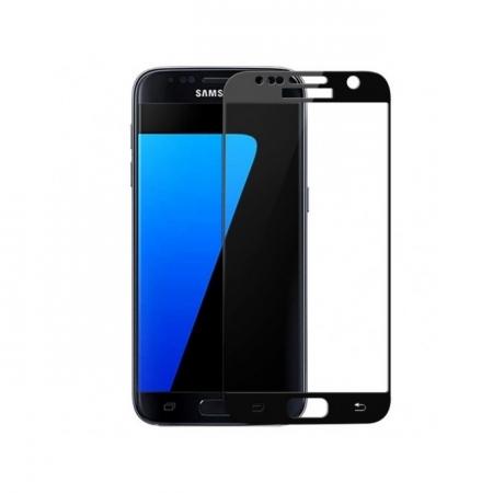 Tempered Glass - folie sticla pentru Samusung Galaxy S7 - negru