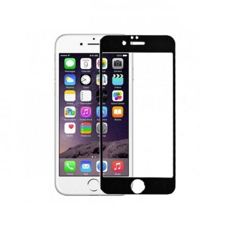 Tempered Glass - folie sticla pentru iPhone 6 Plus - aluminiu negru