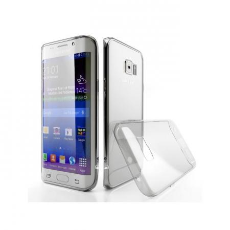 Tempered Glass - Husa Slim Samsung Galaxy S6 Edge