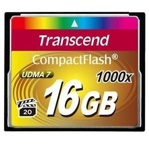 Transcend CF 16GB 1000x, 160 MB/s citire, 120 MB/s scriere