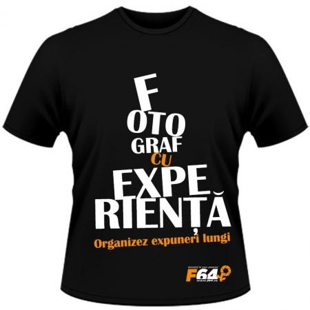 Tricou negru - Fotograf Cu Experienta - XL