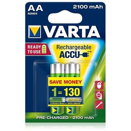 Varta - Acumulatori reincarcabili AA R6 2100 mAh, blister 2 buc.