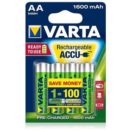 Varta - Acumulatori reincarcabili AA R6 1600 mAh, blister 4 buc.