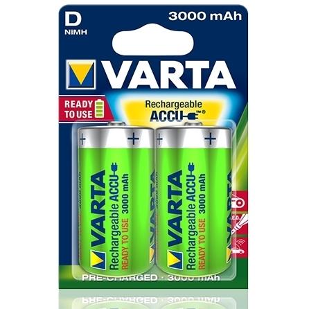 Varta - Acumulatori reincarcabili D 3000 mAh, blister 2 buc.