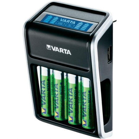 Varta Incarcator pentru priza LCD Plug + 4 Acumulatori AA R6 2100 mAh - RS125030260