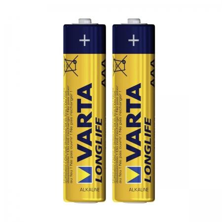 Varta LongLife - baterie alcalina AAA, 2 bucati/ blister