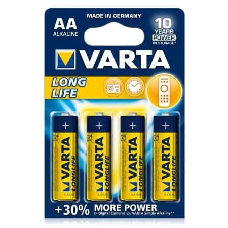 Varta LongLife - baterie alcalina AA, 4 bucati/ blister