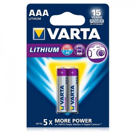 Varta baterie Lithium Profesionala R3 AAA, 2 bucati / blister