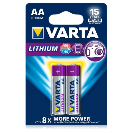 Varta baterie Lithium Profesionala R6 AA, 2 bucati / blister