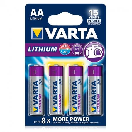 Varta baterie Lithium Profesionala R6 AA, 4 bucati / blister