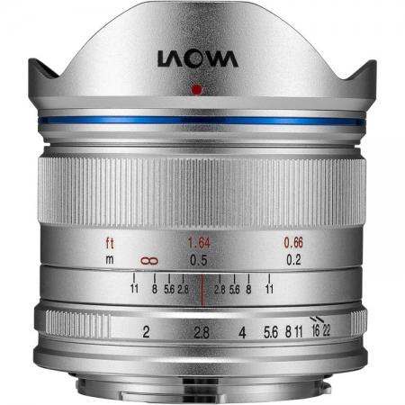 Venus Optics Laowa 7.5mm f/2 Ultra-Light Version - montura MFT, Argintiu